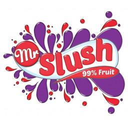 Strawberry Slush 99% Fruit Mr Slush Logo