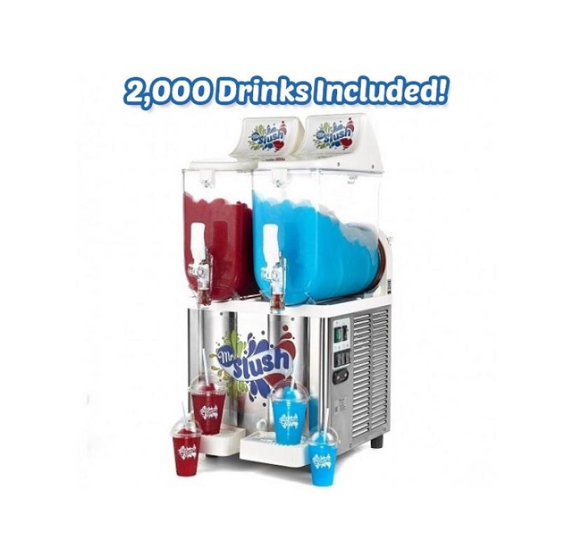 Commercial Slush Machine Bundle