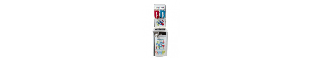 Slush machine stands and serving stations.