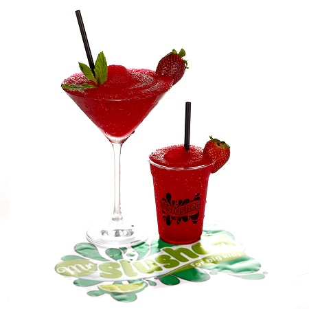 Strawberry Daiquiri Slush Cocktails